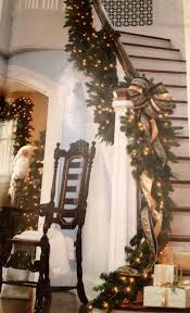 frontgate home decor christmas staircase idea via frontgate decor pinterest