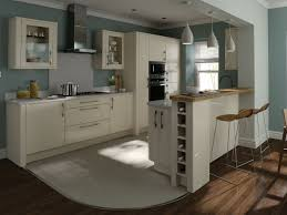 Cream Kitchen Designs Kitchen Cream Gloss With Nice Blue Walls Ideas For The House
