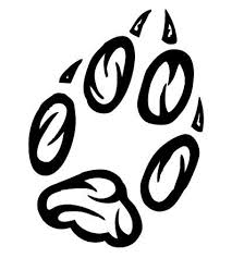 fox paw print tribal tattoo clipart library clipart library
