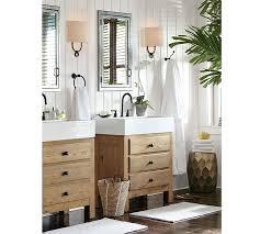 pottery barn bathroom ideas mason reclaimed wood single sink console wax pine finish pottery