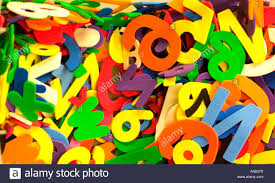 colorful cutout letters and numbers for and art projects