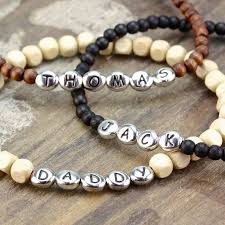 beaded name bracelets best 25 personalised mens bracelet ideas on men