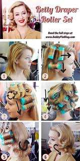 Roller Set Hairstyles Betty Draper Vintage Hairstyle Directions Vintage Hair Howtos