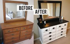 Metal Bedroom Dresser Diy Black And White Dresser Makeover Diy Bedroom Bedroom