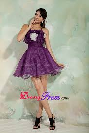 puffy dark purple prom cocktail party dresses online