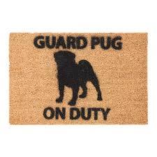 buy artsy doormats pug door mat amara