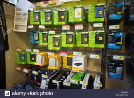 best new electronics a selection of hard drives is seen in a best buy electronics store