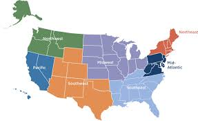 Map Of Northwest Us Us Map Divided Into Regions 5 Regions Of The United States For
