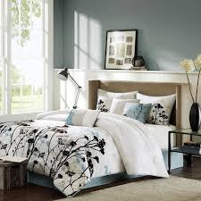 Modern Bed Comforter Sets Amazon Com Madison Park Matilda 7 Piece Comforter Set Blue