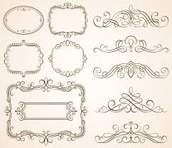 vintage frames with calligraphic ornaments vector 02 vector