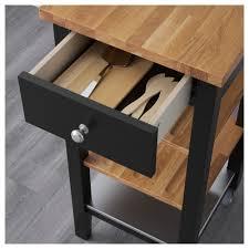 stenstorp kitchen trolley black brown oak 45x43x90 cm ikea
