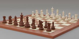 chess pieces with rigged and posed figurines 3d model animated obj