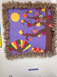 fall thanksgiving bulletin board complete with turkey owl fall