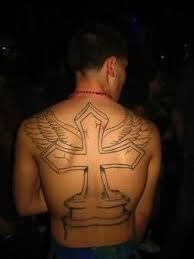 big cross on back
