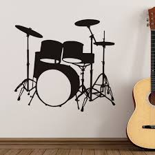 musical home decor rock music band musical instruments drums wall decal boys girls