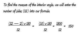 Interior Angle Sum Of A Decagon Polygons Presentation Regular Polygon Angle Formulas