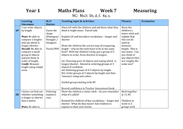 year 1 planning measuring 5 lessons by starlight189 teaching