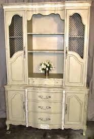 vintage french country hutch dresser bookcase china cabinet
