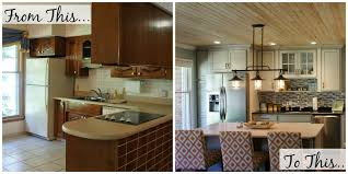 before and after the kitchen living in yellow