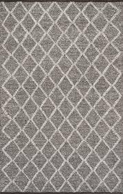 Trellis Rugs Nuloom Flat Woven Diamond Trellis Rug Gray 5 U0027x8 U0027 Contemporary