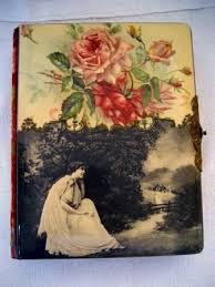 antique photo album figural scenic celluloid photo album antique albums