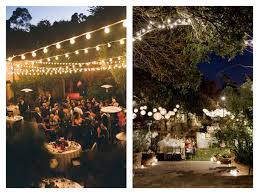 Backyard Wedding Lighting by Warm Backyard Wedding Love The Overhead Lighting