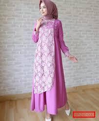 Baju Muslim Brokat gambar baju brokat muslim modern model baru