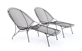 Patio Chaise Lounges Rare Pair Of John Salterini Patio Chaise Lounge Chairs With