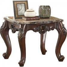 dark walnut end table acme devayne marble and dark walnut end table devayne collection