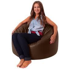 Brown Leather Bean Bag Chair Bean Bag Bazaar Luxury Faux Leather Panelled Xl Bean Bag Chair