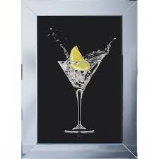 shh interiors lemon cocktail black background framed liquid