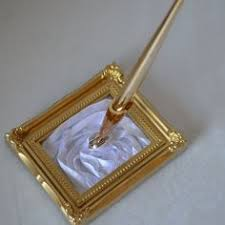 wedding guest book pen beautiful wedding guest book in gold white and ivory 10 x11
