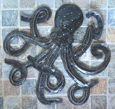 amazon com octopus of the deep sea metal sculpture recycle
