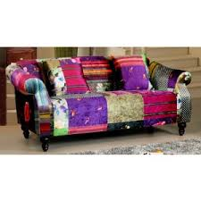sofa patchwork avici shout 3 1 seater fabric patchwork sofa suite