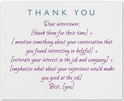 sample job interview thank you letter what to write in a thank you note after an interview template