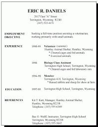 Teenage Resume For First Job by Minimalist Resume Outline For High Students Large Size