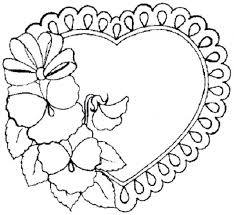 printable flower heart shaped coloring pages girls mandala free