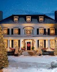 Christmas Window Decorations For Home by Christmas Exterior Holiday Decor Curb Appeal Front Door