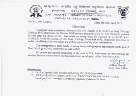 Appointment Letter Format For Hostel Warden Official Website Indian Veterinary Research Institute