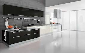 fancy black white and purple kitchen design features contemporary