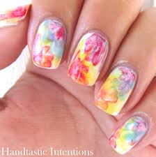 pink white and blue nail designs