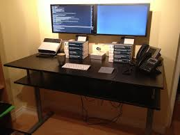 Ikea Standing Desk Galant Galant Standing Desk With Monitor Shelf Ikea Hackers