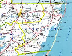 Map Of Md Maryland Aaroads U S Highway 113