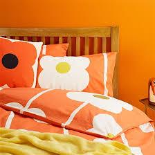 Orla Kiely Multi Stem Duvet Cover Orla Kiely Multi Flower Oval Pair Of Housewife Pillowcases Tomato