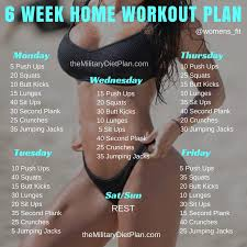 workout plan for beginners at home 6 week no gym home workout plan military diet