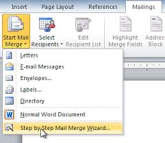 word 2010 using mail merge full page
