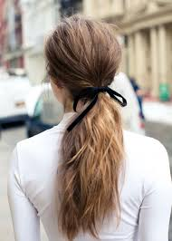 hair ribbon how to make even the simplest ponytail pretty coveteur