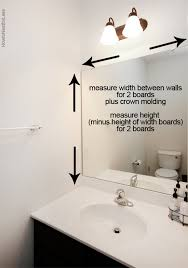 mirror trim for bathroom mirrors how to frame a bathroom mirror builder grade bathroom mirrors