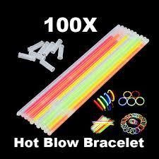 neon party supplies glowstick neon party fluorescent bracelets necklace glow in the
