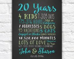 20th wedding anniversary 20th wedding anniversary gift wedding ideas
